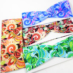 "3"" Wide Mixed Fashion Print  Stretch Headbands (1240) 12 per pk .58 ea"