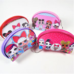 "3"" X 4"" Kids Print Zipper Coin Bag w/ Keychain mixed styles .58 each"