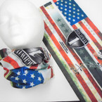 Multifunction Face Mask Scarf American Spirit  12 per pk .75 each