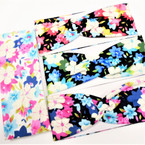 "3"" Wide Multi Color Flower  Print  Stretch Headbands (93) 12 per pk .58 ea"