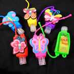 Fruit Scented  Pocket Size Hand Sanitizer Butterfly Theme  12 per pk .60  ea