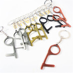 "2.5"" Metal No Touch Key Chain for Personal Safety 12 per pk .58 ea"