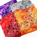 Bandana Stone Wash Tye Dye DBL Sided Printed 100% Cotton .60 ea
