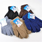 Childrens Fuzzie Winter Gloves  5- Asst Colors  12 pairs per pk .58 ea pair