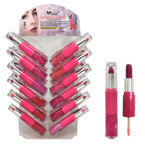 Lip Gloss &  Lipstick Combo Stick  24 per display  .60 each