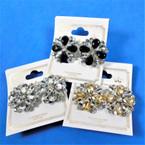Classy Acrylic Stone Fashion Earrings CLIP ON  Earrings  .54 each pair