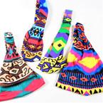 3 in 1 Headbands/MASK/Mask Cover w/  Elastic Back Multi Prints .56  each
