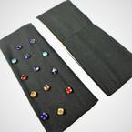 "3"" All Black Stretch Headband w/ Multi Color Stones  .56 each"