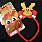 Christmas Reindeer  Festive Headbands 12 per pk   .56 each