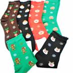 Christmas Crew Socks  6 styles per dz (74664) .60 per pair