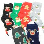 Christmas Crew Socks  6 styles per dz (74658) .60 per pair