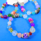 HI Fashion Multi Beaded Stretch Bracelets  .58 each