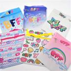 "5"" X 6.5"" Colorful Best Friend Theme Zipper Bags w/ Strap   .60 each"