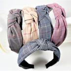 "1.5"" Herringbone Pattern  Fashion Headbands w/ Knot .58 each"