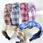 "1.5"" Checker Pattern  Fashion Headbands w/ Knot .58 each"