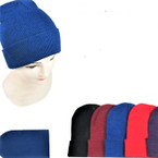Children's Size Knit Winter Beanie Caps Mixed  Colors .60 each