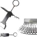 Silver Multi Function Metal Keychains 12 per pk .58 each