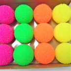 "2.5"" Neon Color Textured Light Up Bounce Balls 12 per pk .60 each"