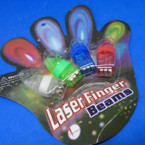 SPECIAL 4 Pack 4 Color Finger Beam Rings .55 per set of 4
