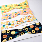 "3"" Pineapple Theme Stretch Headbands Asst Colors (2006) 12 per pk  .58 each"