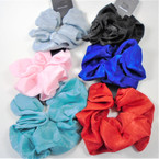 Large Size Soft Fabric  Hair Scrungi Mixed Colors .58 each