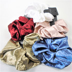 Large Size Soft Fabric  Hair Scrungi Mixed Fall  Colors .58 each