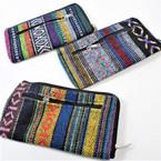 """3"""" X 6"""" Aztec/TRibal Wooven Theme 2 Zipper Bag Mixed Styles .58 ea"""