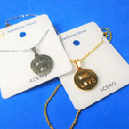Gold & Silver Stainless Steel w/ One Love Pend. Necklace   12 per pk  .58 each