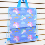 "12"" X 18"" Unicorn Theme Tote Bag / Back Pak Mixed Styles .75 ea"