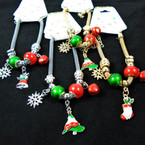 Pandora Style Charm Bracelets /Gold / Silver w/ Christmas Charms .58 each
