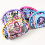 "4"" Obama Print Fashion Zipper Coin w/ Keychain  .58 each"
