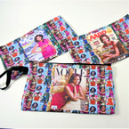 "4"" X 8"" Obama Print Fashion Zipper Bag w/ Wrislet  .62 each"