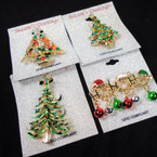 "1.5""-2"" Cast & Stone Christmas Broaches 4 styles .62 each"