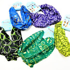 Carded Multifunctional Scarf/Headwear/ Mask  Mixed Pack Prints (53) .62 ea