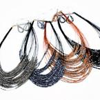 "24"" 30 Line Seed Bead Necklace Sets 4-asst Colors .60 per set"