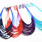 "24"" 30 Line Seed Bead Necklace Sets 8-asst Colors .60 per set"