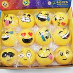 "2"" Light Up Moody Face Emoji Balls 12 per display .58 each"
