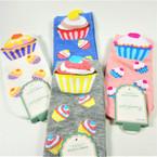Kids Cup Cake Lovers  Print Theme   Socks Asst Style   .58 per pair