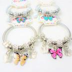 KID'S ButterflyTheme Spring Style Fashion Bracelets Gold/Sil .56 ea