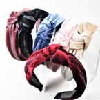 "1.5"" Velvet  Fashion Headbands w/ Knot Hint of Sparkle .56 each"