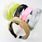 "1.5"" Lite Color  Velvet  Fashion Headbands w/ Knot  .56 each"