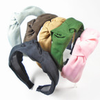 "1.5"" Wide Textured Fabric Fashion Headbands w/ Knot .56 ea"