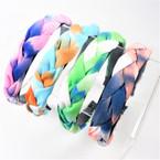 Trendy Padded Braid Style  Fashion Headbands Tye Dye  Colors   .56 each