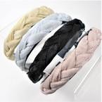 Trendy Padded Braid Style  Fashion Headbands Metallic Sparkle   .56 each