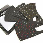 Fashion Face Mask Reusable w  Acrylic Stones 12 per pk   $ .99 each