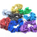 2 Pack Shiney Metallic Hair Scrungi's Asst Colors .54 per set