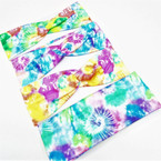 "3"" Wide TYE DYE Fashion Print  Stretch Headbands (40) 12 per pk .56 ea"