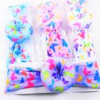 "Trendy 2"" Butterfly Print Fabric  Stretch  Headbands w/ Donut   .56 ea"