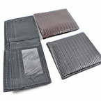 Textured  Black & Brown Mens Wallets Bi Fold Style .56 each