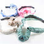 Fashion Headband w/ Knot & Scrungi Set Tye Dye  .56 per set